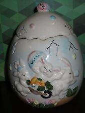 EJA BNY Easter Egg Bunnies Container Jar Bunny Rabbit