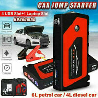 New Car Jump Starter Pack Booster Battery Charger Power Bank 4 USB 69800mAh 600A