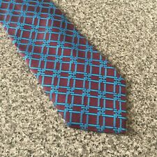 Timothy Everest Purple Blue Maroon Geometric Silk Tie