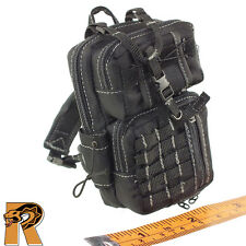 Darkzone Agent - Black Molle Backpack - 1/6 Scale - VTS Action Figures