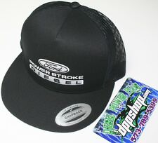 ford powerstroke trucker Flat bill ball cap hat snap back mesh classic flatbill