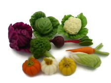 10 Loose Mix Vegetables Dollhouse Miniatures  Kitchen Grocers