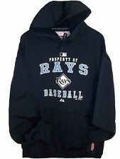 Tampa Bay Rays MLB Authentic Majestic Property of HOODIE Mens 2XL