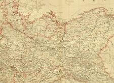 1873 HAND COLOURED MAP NORTHERN EMPIRE OF GERMANY POSEN HANOVER SAXONY BERLIN