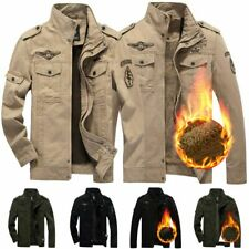Men's Army Cargo Coat Outwear Military Jacket Airborne Bomber Tactical Jackets