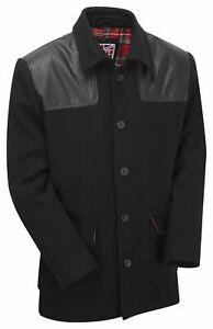Mens Donkey Vintage Jacket Skinhead Punk MOD Outdoor Work Winter Warm Wool Coat