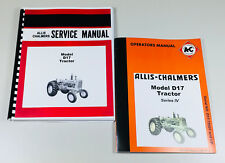 SET ALLIS CHALMERS D-17 SERIES IV TRACTOR SERVICE REPAIR OWNERS OPERATORS MANUAL