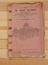 1848 book of CARPENTRY DESIGNS FOR ROOFS  CHATEAU AND BARNS ETC 26 PLATES 1848