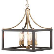 Home Decorators Boswell Quarter 5-Light Vintage Brass Chandelier