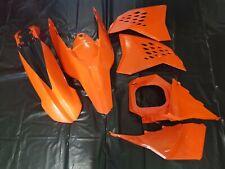 KIT PLASTICHE KTM EXC 125 250 300 2008 2009 2010 2011 4 PZ COLORE ARANCIO