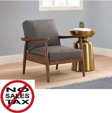 Club Chair Mid Century Modern Danish Wood Gray Vintage Accent Lounge Arm Recline