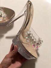 Womens Super High  Platform Crystal Shoes