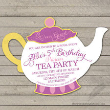 Beauty and the Beast Tea Party Birthday Invitations / Die Cut Mrs. Potts PRINTED