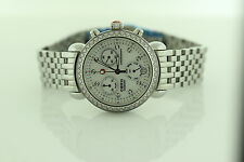 NEW Michele CSX Chronograph Diamond Mother Of Pearl Ladies Watch MW03M01A1046