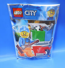 Lego City Edition Limitée 951809 / Müllmann +Schukarre +Accessoire/Polybag