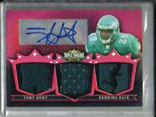 Tony Hunt 2007 Topps Triple Threads Autograph Game Used Jersey Rookie #18/18