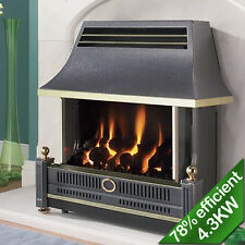 Flavel Renoir Gas Fire Black Outset FRECN0EN Raidiant Convector Gas Fire Coal