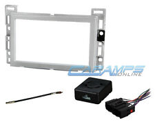 CAR STEREO DOUBLE 2 DIN SILVER RADIO INSTALLATION DASH KIT W/ CHIME INTERFACE