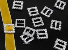100 Acrylic Buckle Ribbon Rectangle Slider For Wedding Invitation Card Supplies