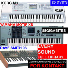 The NEW! NI KONTAKT NKI Keyboard Samples MOTIF XS M3 AND DAVE SMITH PROPHET 08