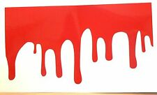 adesivo sticker SANGUE CHE COLA blood vernice paint dripping chiazza