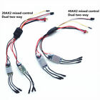 20AX2 / 40Ax2 Brushless ESC Dual two-way mixed control RC Boat tanks 2S-4S Lipo