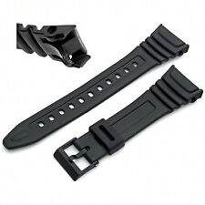 Watch Strap  Flexible Black Resin  to fit Casio  W96 W-96H W96H  577EA1