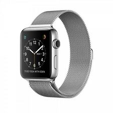 Apple Watch Series 2 42mm carcasa de acero inoxidable Milanés Pulsera - PLATA