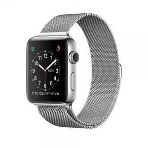 Apple Watch Series 2 42 mm Edelstahlgehäuse Milanese Armband - Silber