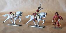 Starlux lot figurine en plomb officier cheval blanc  soldat Napoléonien