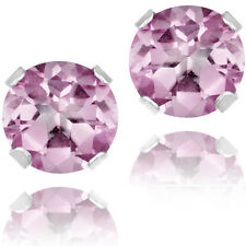 @@ Wholesale 925 Sterling Silver 1.50ct Pink Solitaire Round Stud Earrings