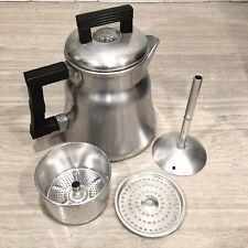 Vintage Aluminum Wear-Ever Coffee Pot Percolator No. 3004 Made in USA