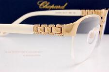 New Chopard Eyeglass Frames VCH A67S 300X Gold/White For Women