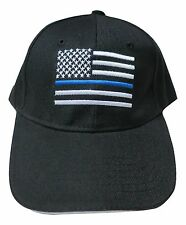 Thin Blue Line USA Flag Hat Baseball Cap Support Police Law Enforcement