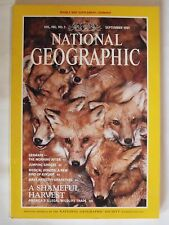 """National Geographic .. September 1991 ... """"A Shaneful Harvest"""" Cover Page!"""