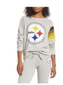 Junk Food Pittsburgh Steelers NFL Women's Hacci Thin Sweatshirt M