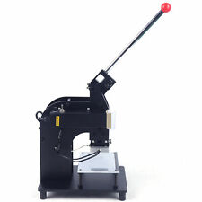 500W Manual Hot Foil Stamping Machine 10*15CM Leather Gold Embossing Logo Press