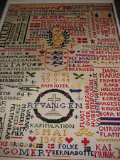 "NEW OLD STOCK ""Kapitulationsstykke"" Jig Saw Puzzle Clara Waewer Cross Stitch"