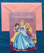 Disney Princess Cinderella Greeting Birthday Card Granddaughter Hallmark New
