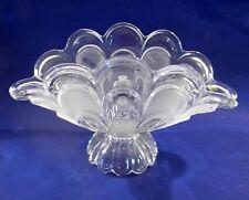 Vintage Bohemian Glass CZECH REPUBLIC Pedestal Banana Bowl Centerpiece HH union