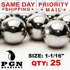 "1-1/16"" Inch (27 mm) Pinball Replacement Steel Balls G100 - 25 PCS"