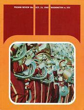 1968 (Oct. 19) College Football program, Washington Huskies @ USC Trojans ~ Good