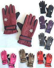 Women Winter Outdoor Sports Ski Thermal Insulation Waterproof Gloves Mittens NEW