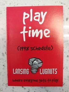 1998 Lansing Lugnuts Pocket Schedule A Affiliate Kansas City Royals Juan LeBron