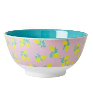RICE Melamine bowl in  lemon print