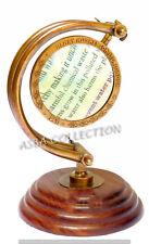 Vintage Brass Magnifier Brass & Wood Base Magnifying Glass Decor Antique Finish