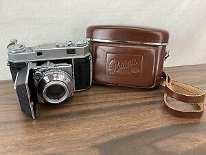 Vintage Kodak RETINA IIa Camera W/ Leather Case Germany Excellent Condition!