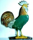 Antique+Crowing+Rooster+Metal+Weather+Vane+Topper+12%22+tall