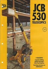 Equipment Brochure - Jcb - 530 - Telescopics - c1995 French language (E4993)