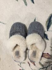 Ugg Slippers, Big Kids Size 3 Gray Sweater Style